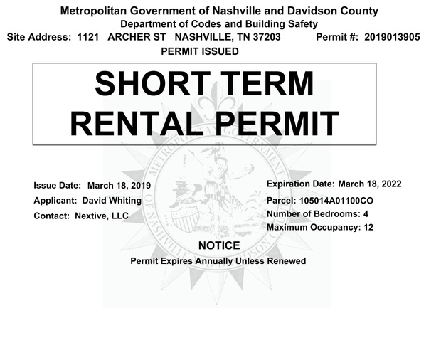 Permit - 1121 Archer St - Expires March 2022 -1