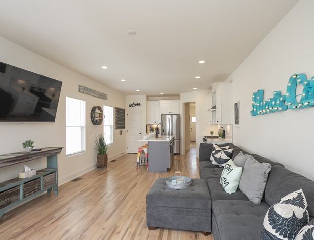 Wide open living area on the first level