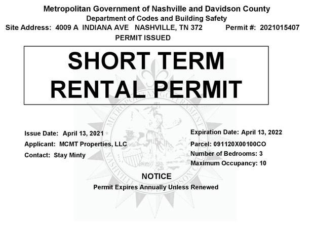 Nashville Permit # 2021015407