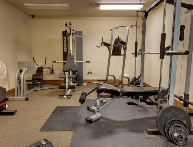 Weights at the Fitness Center