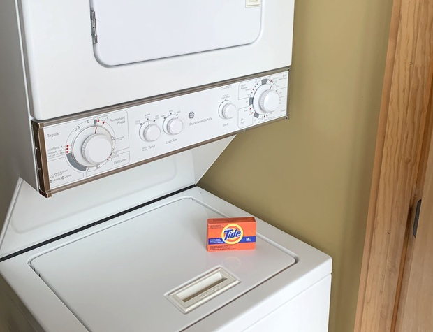 washer and dryer and starter detergent in each unit
