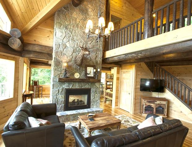 great room pass-thru gas fireplace