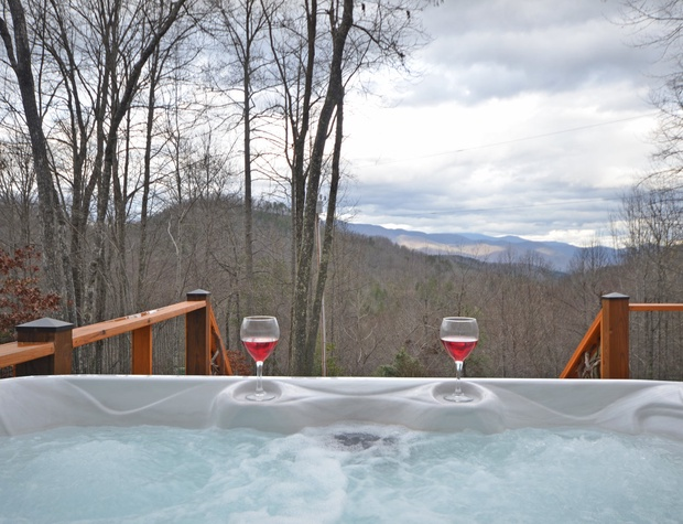 Thunderhead Hot Tub View