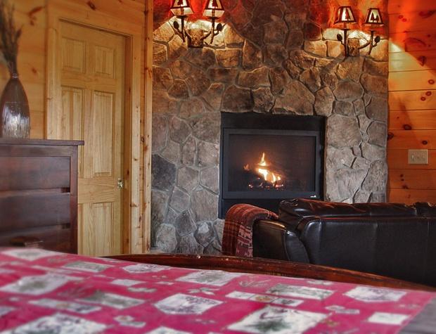 Lower Bedroom Fireplace