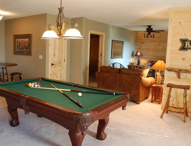 Pool Table is on lower level