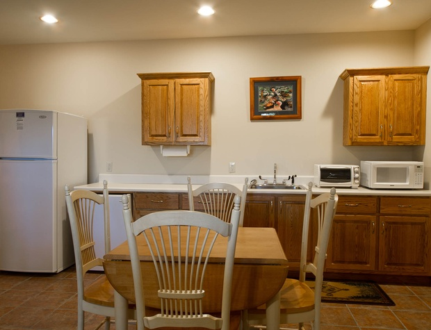 extra groceries or private morning coffee in the lower kitchenette